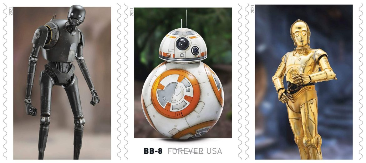 All new Star Wars Stamps devoted to all things Droid!