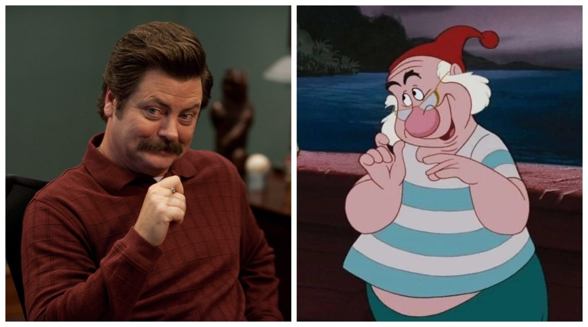 Disney Offers 'Parks and Rec' Star Nick Offerman the Role of Mr. Smee in Live-Action 'Peter Pan & Wendy'