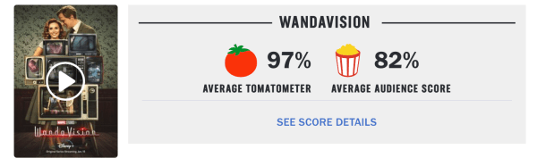 'WandaVision' Earns Highest Rating to Date for the MCU on Rotten Tomatoes 2
