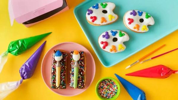paint palette donuts recipe