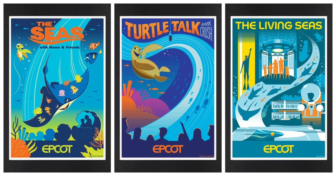 New Screen Print Posters & Lithographs Inspired by EPCOT Coming Soon