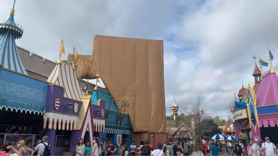 More scrim around Peter Pan's Flight in the Magic Kingdom