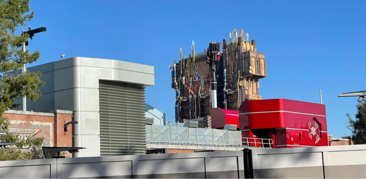 First Look: Avengers Campus testing exterior lighting
