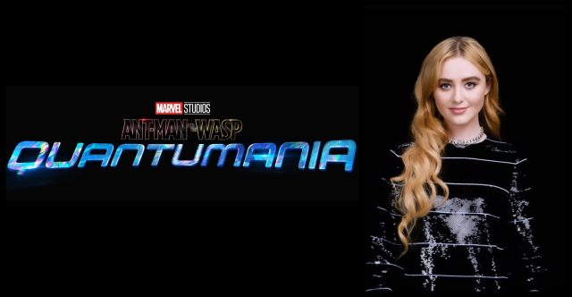 Ant-Man and the Wasp: Quantumania Logo and Kathryn Newton, who will play Cassie Lang