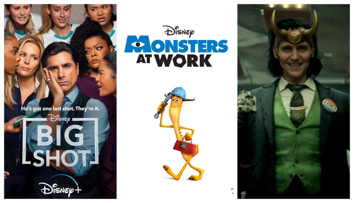 Release Dates and New Details Released for Upcoming Disney+ Titles: Monsters at Work, Big Shot, Loki, Turner & Hooch, and more!