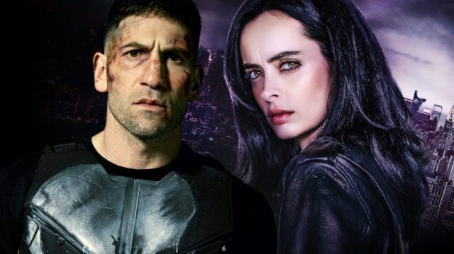 The Punisher and Jessica Jones from the Marvel Netflix series