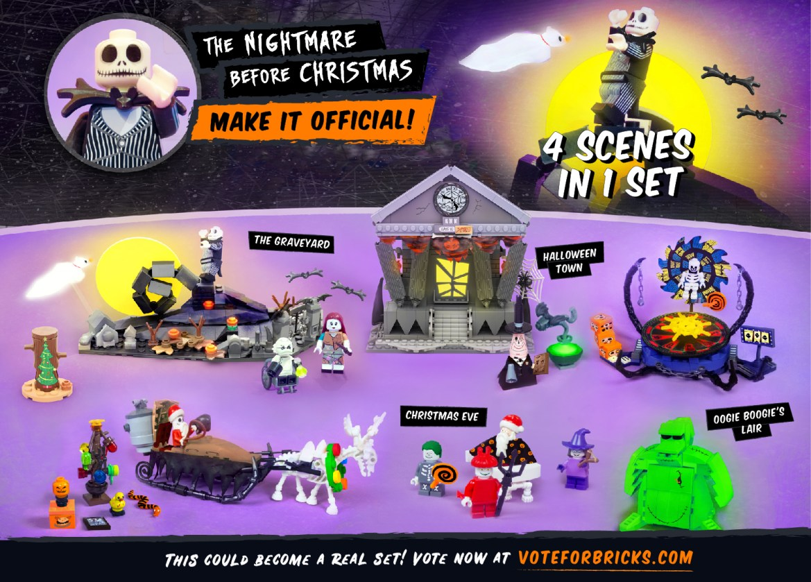 Support This Nightmare Before Christmas LEGO Project
