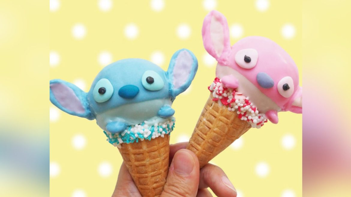 Have Tsum Fun Making These Stitch And Angel Cupcake Cones At Home!