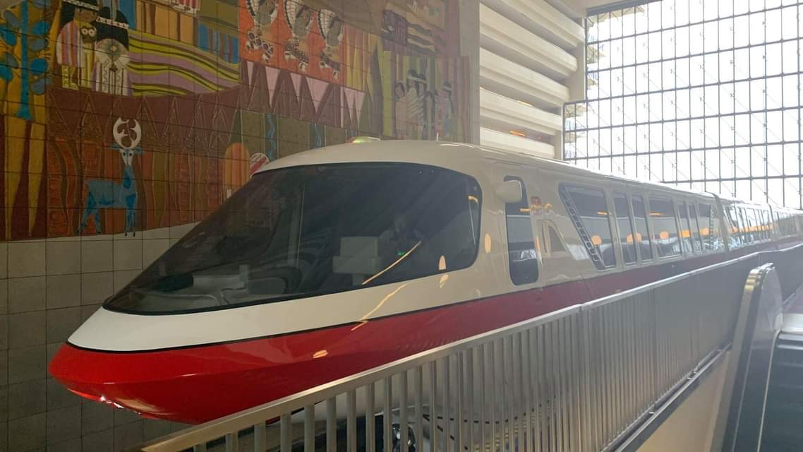 Monorail Red Has Returned To Operation At Disney World