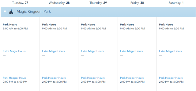 Disney World releases operating hours through May 1st, 2021 2