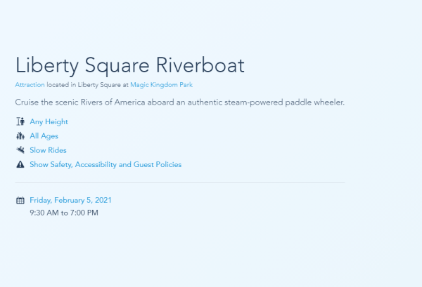 Liberty Square Riverboat & Tom Sawyer Island reopening this Friday! 2