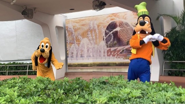 Goofy And Pluto Join Mickey And Minnie Greeting Guests In Epcot