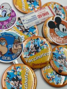 Vaccinated Disney Button