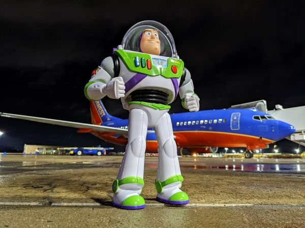 Missing Buzz Lightyear goes on a mission before returning home thanks to Southwest Airlines 1