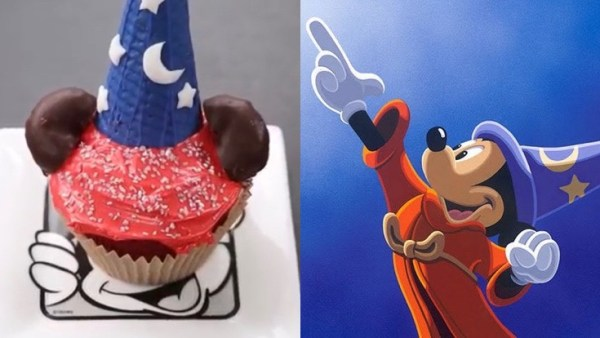 sorcerer mickey cupcake