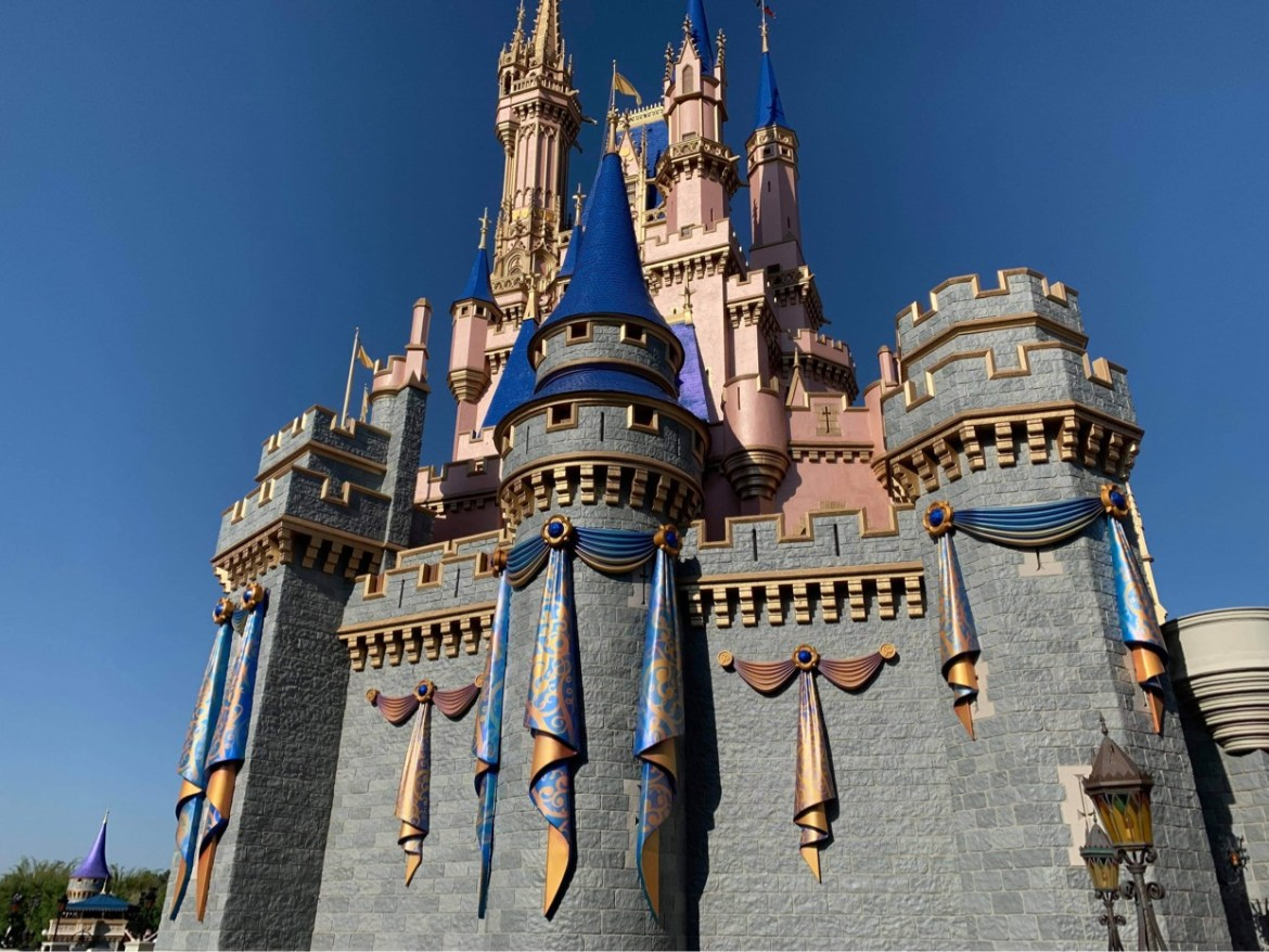 New Decor added to Cinderella Castle for 50th Anniversary Celebration