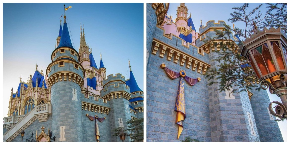 First Look at Cinderella Castle decor for Disney World's 50th Anniversary