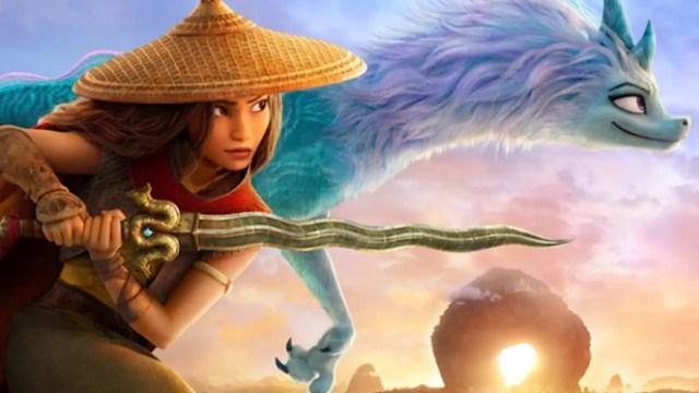 Raya and Sisu from Raya and the Last Dragon