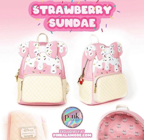 Strawberry Sundae Minnie Loungefly Exclusive Launches Tonight