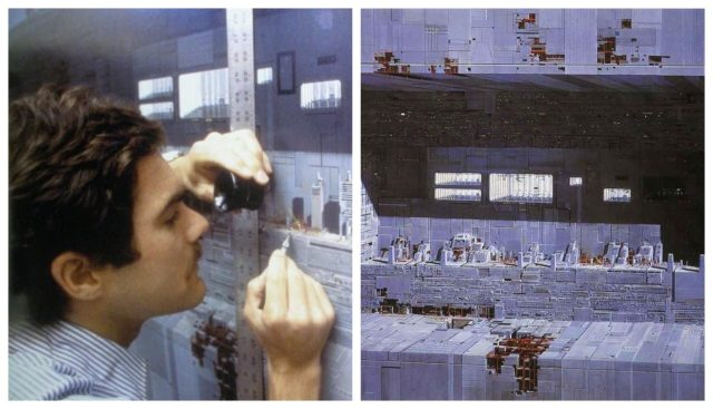 Artists at work on Star Wars Backdrops