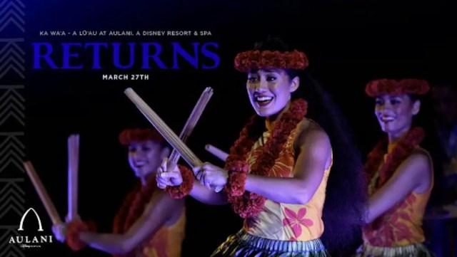 Popular Event Returning to Disney's Aulani 1