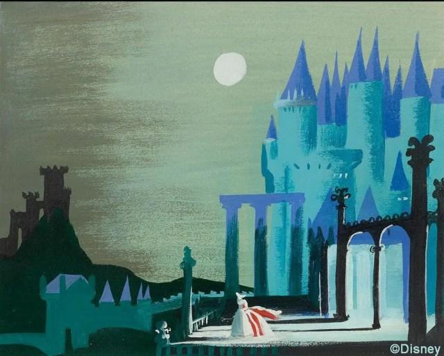 New Mary Blair-Inspired 50th Anniversary Cinderella Castle Art 3