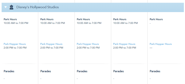 Disney World Park Hours extended through May 22nd 5