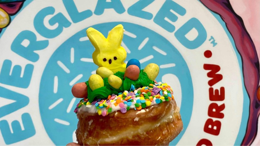 New Rolling With My Peeps Donut At Everglazed Donuts!