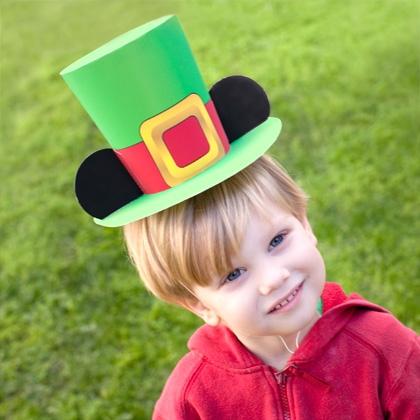 How to make a Mickey Leprechaun Hat for St. Patrick's Day