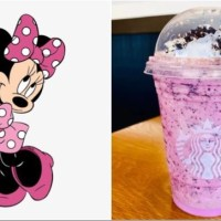 Minnie Mouse frappuccino