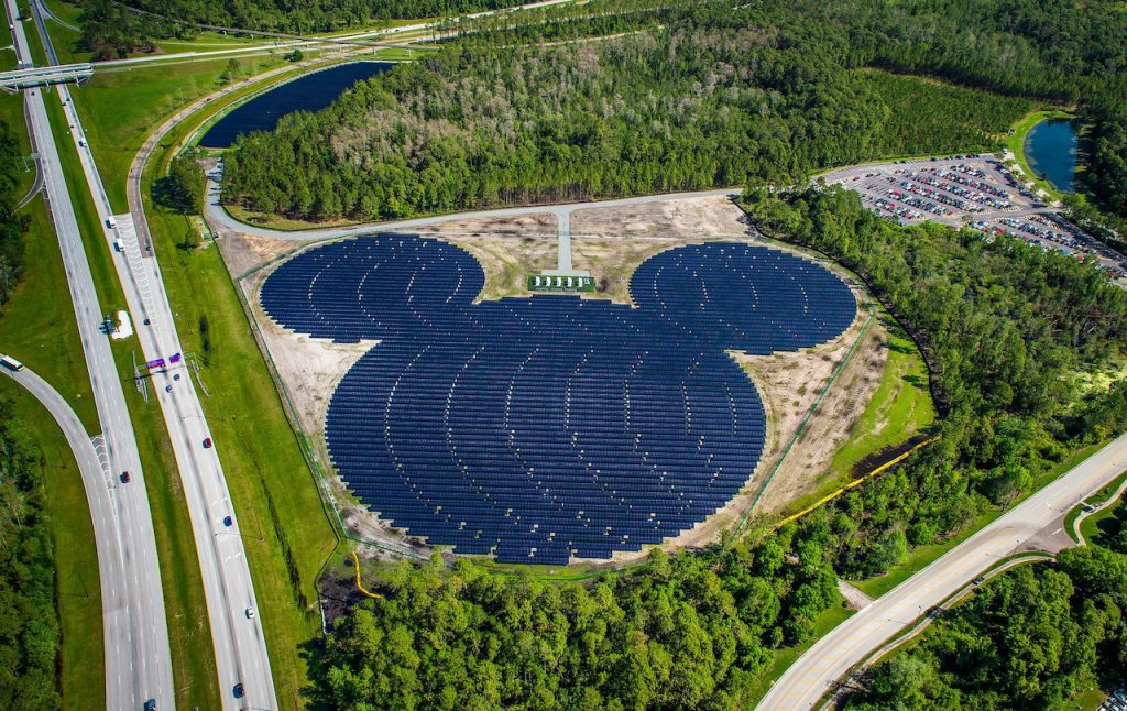 Disney uses the sun to power the Parks around the world
