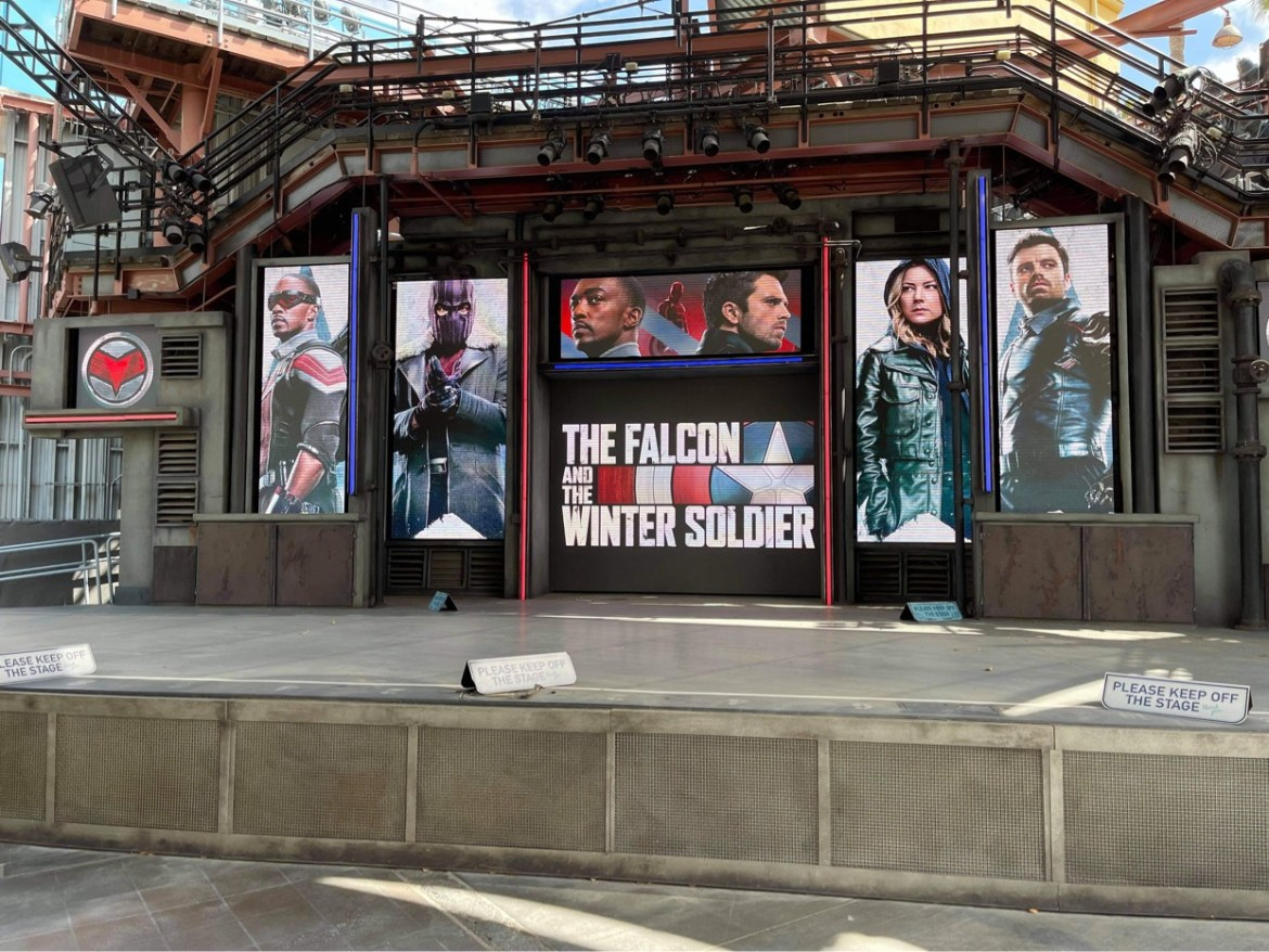 The Falcon & Winter Soldier Photo Op in California Adventure