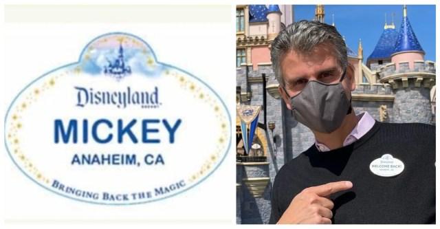 Disneyland cast member badge