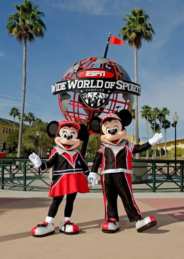 Mickey and Minnie at ESPN Wide World of Sports