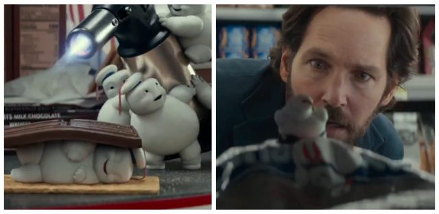 Mini Stay-Puft's from Ghostbusters: Afterlife, and Paul Rudd