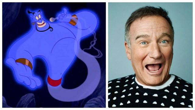 Genie in Aladdin (Left) and Robin Williams (Right)