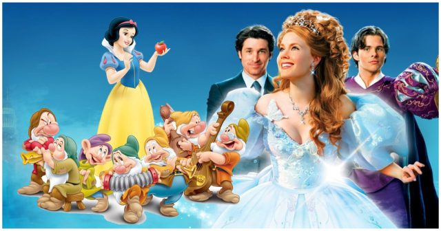 Snow White and the Seven Dwarfs (left) Enchanted Cast (right)
