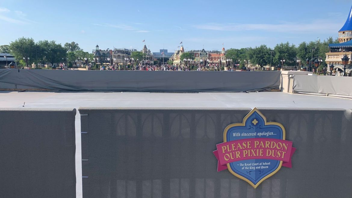 Cinderella Castle Stage resurfacing almost complete for Magic Kingdom 50th