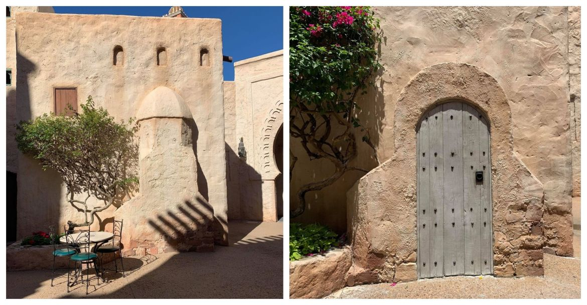 Famous Morocco Pavilion wall has undergone some changes