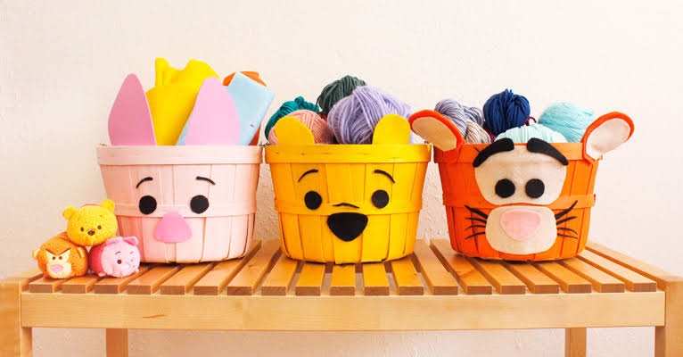 Adorable Winnie The Pooh Easter Baskets DIY!