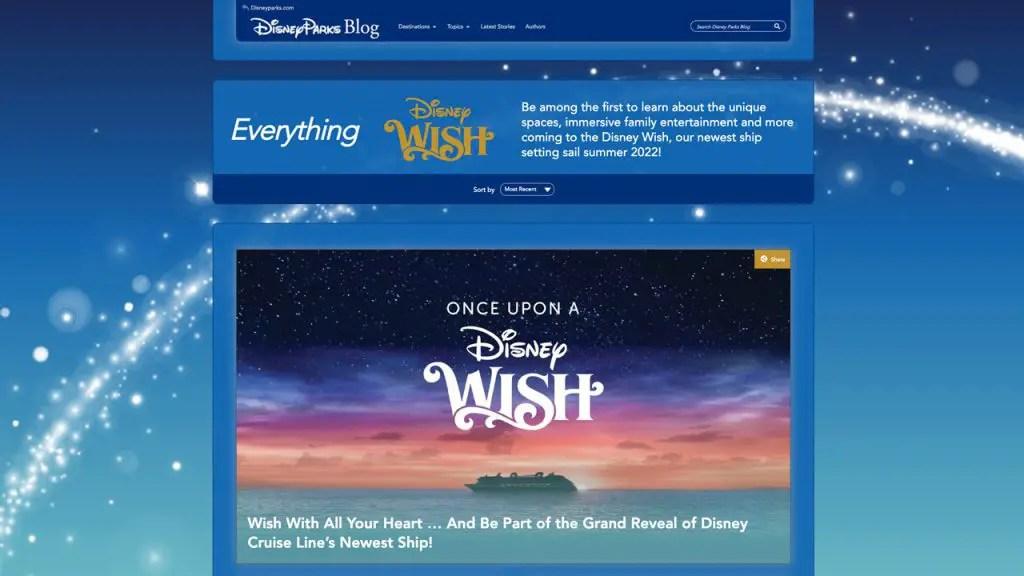 Disney Cruise Line's Disney Wish Has It's Own Website!