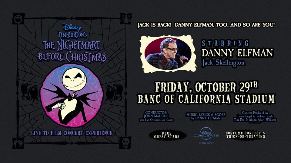 'The Nightmare Before Christmas' Live-To-Film Performance Coming this Fall