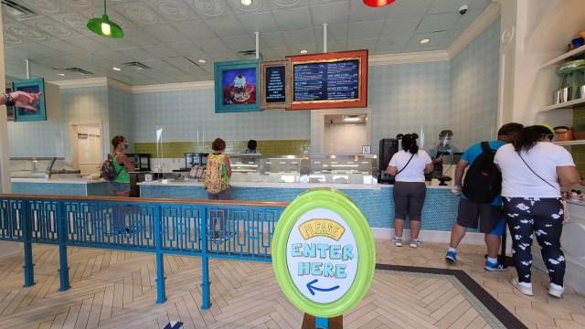 Inside Boardwalk Ice Cream Shop