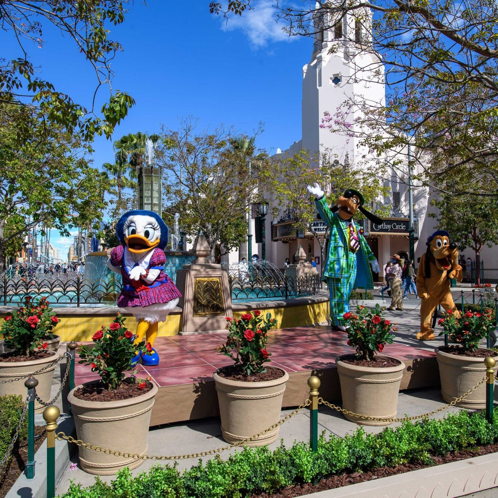 Disney characters welcome guests back to the Disneyland Resort! 10