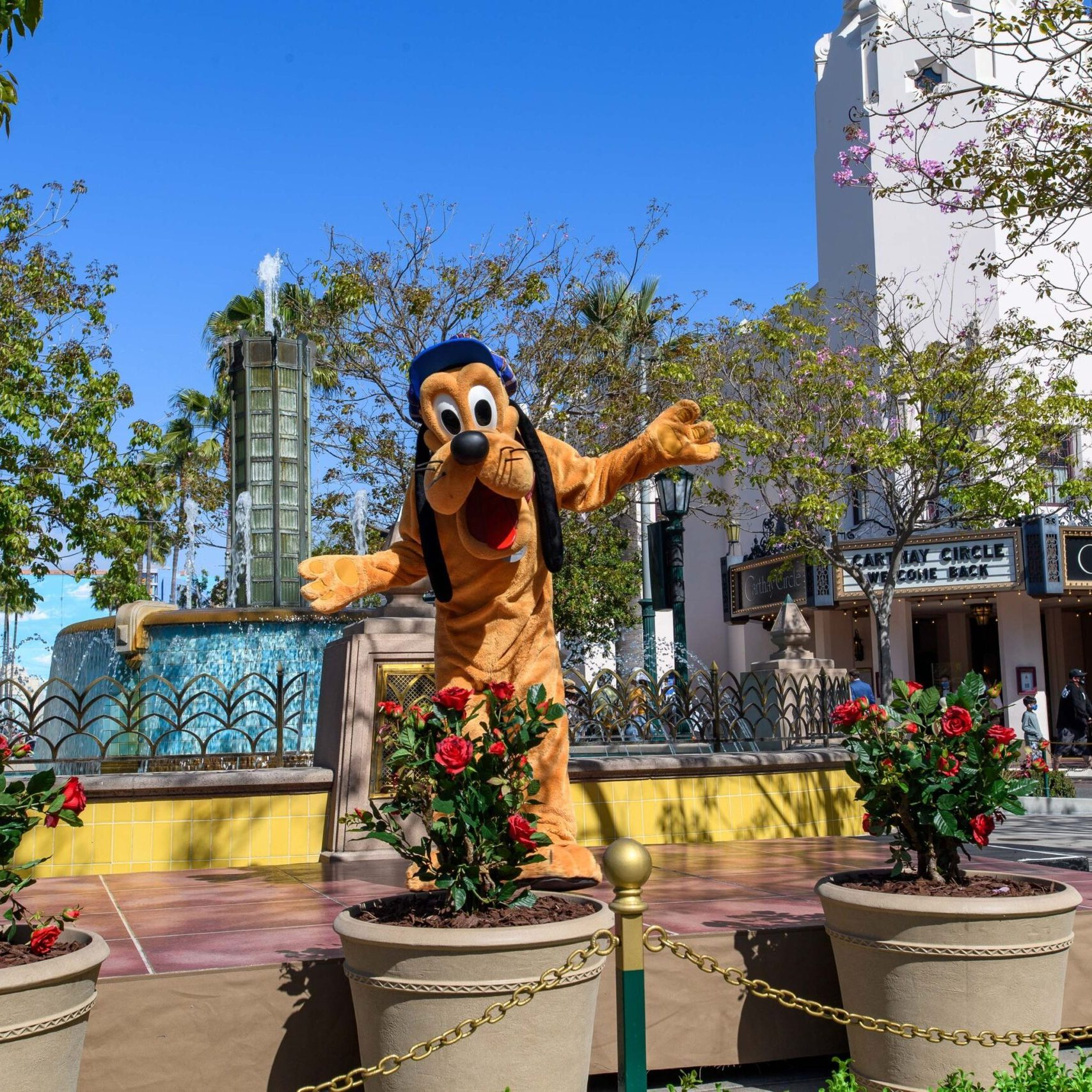 Disney characters welcome guests back to the Disneyland Resort! 7