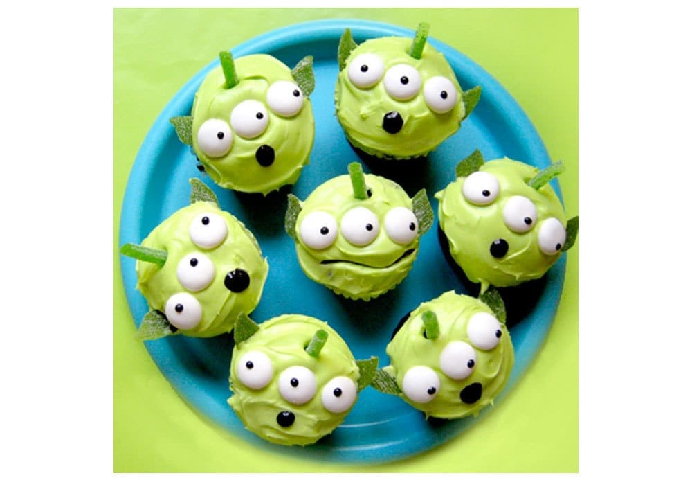 Toy Story Green Alien Cupcakes You Can Make At Home!