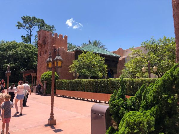 Barriers up in Morocco pavilion at EPCOT