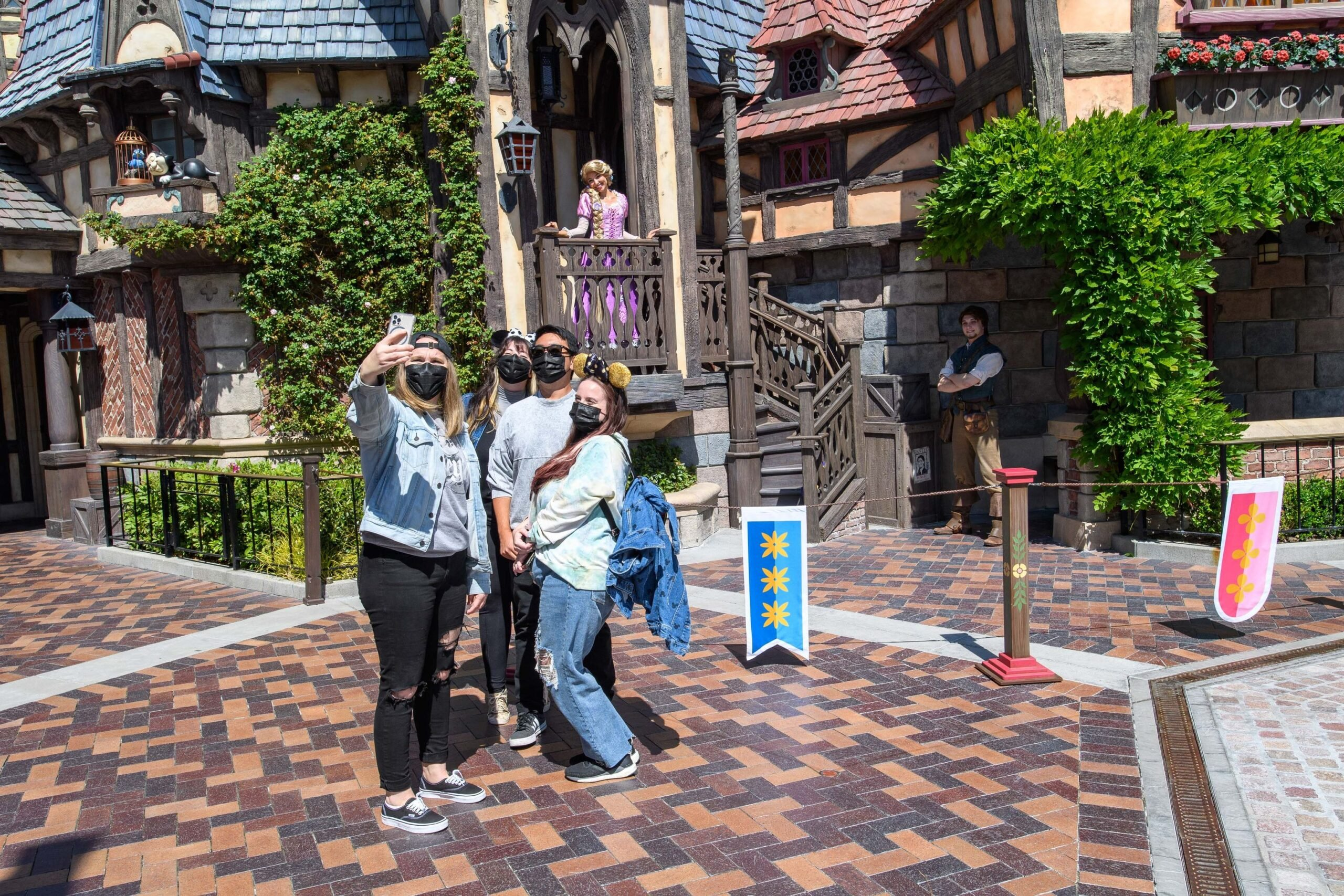 Disney characters welcome guests back to the Disneyland Resort! 6