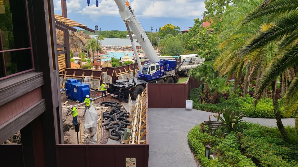 Work continues on Disney's Polynesian Resort Monorail Station 1