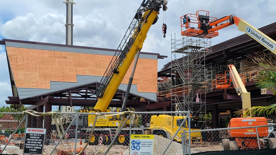 Work continues on Disney's Polynesian Resort Monorail Station